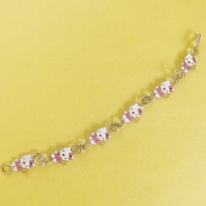 🔵Children's Kawaii Hello kitty pink bracelet 925